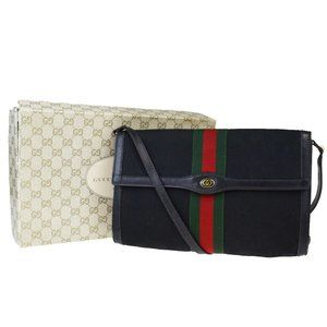 GUCCI GG Ofidelia Sherry 2Way Clutch Shoulder Bag